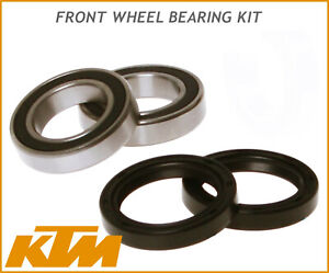 FRONT WHEEL BEARINGS SEALS KTM SX SXF EXC EXCF 125 144 150 250 300 450 525 03-18