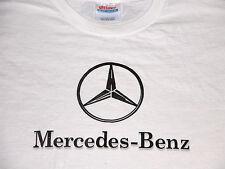 Vtg 1990s MERCEDES-BENZ Car Logo Emblem White T Shirt M