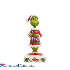 Jim Shore The Grinch 6002068 Two Sided Naughty Nice Grinch 2018