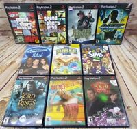 10 PLAY STATION 2 GAMES PS2 - GTA, 007, SIMS 2, BRITNEYS, POKER, LOTR, BIBLE