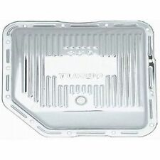 Racing Power Company R9122 Finned Transmission Pan - Chrome, For GM Turbo 350