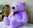 Fascinating Giant 100cm Purple Plush Teddy Bear Huge Soft 100% Cotton Doll Toy