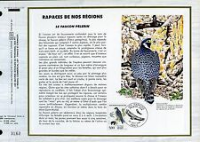 DOCUMENT CEF PREMIER JOUR  1984  TIMBRE N° 2340 FAUNE FAUCON PELERIN