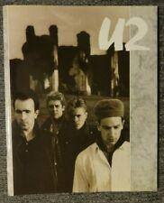 U2 The Unforgettable Fire Tour Program 1984-85 Vg