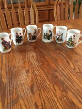 Norman Rockwell Porcelain Mugs And Tankard