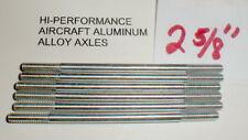 """(6) Hi-Per Aluminum Axles 5:40 thread Vintage 1960's Slot Car NOS  2 5/8"""" Long"""
