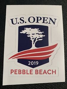"2019 US Open (Pebble Beach) -Logo Sticker Decal Golf 3.4"" x 2.8"" - Free Shipping"