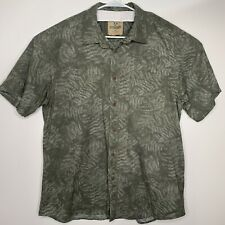 Outdoor Life XL Mens Shirt Green Button Front Short Sleeve Casual Extra Large