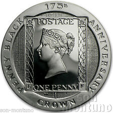 Isle of Man 2015 - 175th Anniversary Penny Black Stamp SILVER PROOF 1 Crown Coin