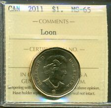 2011 Canada Loon Dollar Certified ICCS MS-65