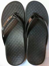 008ae4def3784 Women s Vionic Black Toe Post Sandal Shoes Tide II Comfort Orthopedic 8