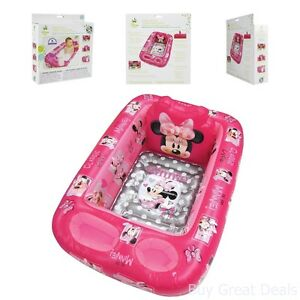 Disney Inflatable Safety Baby Bath Tub Minnie Mouse Pink