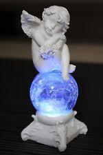 deko Engel LED Glaskugel Farbwechsel Beleuchtung Engelchen Figur Glas Tischdeko