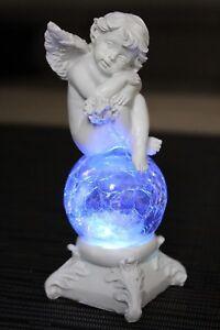deko Engel LED Glaskugel Farbwechsel Beleuchtung Engelchen Figur Weihnachtsengel