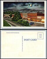 NORTH CAROLINA Postcard - Tryon, Trade Street at Night K19