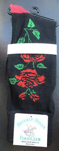 Beverly Hills Polo Club Dress Socks Rose Floral Flower