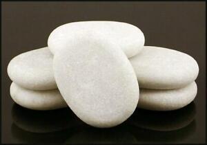 HOT STONE MASSAGE: 6 Marble Cold Stones 7.5 x 5.5 x 1.5cm
