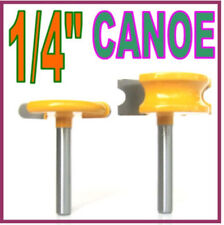 "2 pc 1/4"" SH 1/4"" Dia. Canoe Flute and Bead Router Bit sct-888"