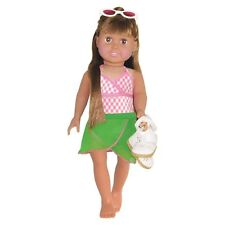 "Doll Clothes AG 18"" Bathing Suit Sarong Pink Springfield Fits American Girl Doll"