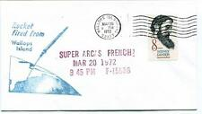 1972 Wallops Island ROCKET FIRED Super Arcas French FI5936 WFF Goddard Base NASA