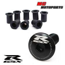 Black GSX-R Logo Fairing bolts GSXR 1000 600 750 01 02 03 04 05 06 07 08 09 10