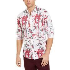 Top Para Hombre Impreso Botones Inc Camisa Informal Camisa BHFO 8525