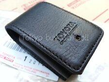 Toyota Land Cruiser 200 Black Leather Smart Key Case Cover Genuine OEM Parts