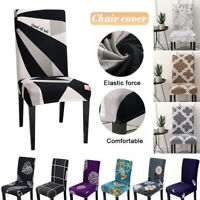 Elastic Spandex Dining Chair Covers Slipcover Washable Wedding Banquet Decor UK