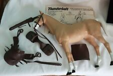 Vintage Marx Toys 1960s Johnny West THUNDERBOLT HORSE w Tack Gear Accessories