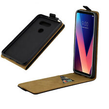 Full Black Phone Case Cover Magnetic Vertical Holster For LG V30 /V30+ Plus