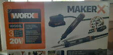 New WORX Maker X Cordless Rotary Tool/Wood & Metal Crafter #WX988L Combo Kit