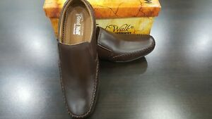Mens Brown Colour Leather Slip On Shoes Casual Formal Work Office School (A-D-6)