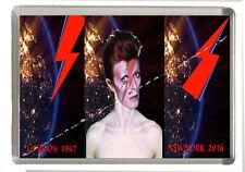 David Bowie Tribute Fridge Magnet - Jumbo Size 90mm x 60mm