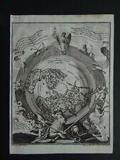 1737 SCHERER Atlas WORLD Map Northern Celestial Hemisphere Sky California Island