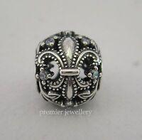 Authentic Genuine Pandora Sterling Silver Fleur De Lis Openworks Charm 791378CZ