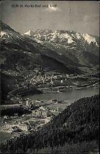 St. Moritz Schweiz Graubünden 1912 Bad und Dorf Panorama Alpenkette Alpen Berge