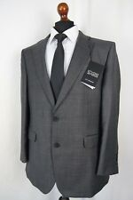 Men's New Jeff Banks STVDIO Tailored Fit Grey Checked Suit 42R W36 L31 AA443