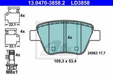 Ceramic Bremsbelagsatz, Scheibenbremse Hinterachse ATE 13.0470-3858.2