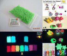 """Yui Lumi Clay Polymer, 10 g """"Glow in the Dark"""" Nachleuchtende echt Grün"""