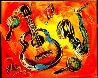 MUSIC JAZZ ART modern abstract  Abstract Modern Original   Painting  CANVAS