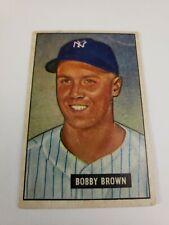 1951 BOWMAN #110 BOBBY BROWN NEW YORK YANKEES