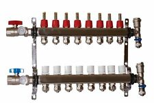 8 Loop 1 Stainless Steel Manifold For Radiant Heating For 12 Pex Tubing