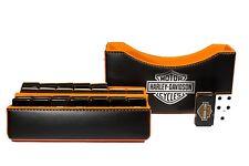 Harley-Davidson Jumbo Domino Double Six, 5 Coats 100% Acrylic. Faux Leather Case