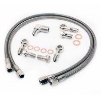 Fits 300ZX RB26DET GT-R w/ Garrett GT30R GT3582R BB Oil Feed Line Kit M12x1.5mm