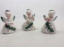 3 Vintage Lefton Christmas Angel Figurines 6394