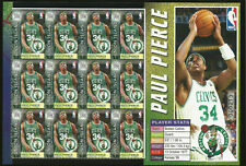 NBA BASKETBALL PAUL PIERCE BOSTON CELTICS ON STAMPS MINT SHEET OF 12 UNION ISLA
