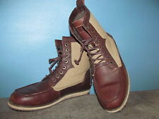 Levi's Dawson? Boot Men's Canvas Lace-Up Boot KHAKI / BROWN  Shoes Size 9 NICE!
