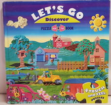 Let's Go Discover Touch & Feel Puzzle Board Book Contains 4 Touch & Feel Puzzles
