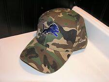 Brand new Detroit Lions adjustable camo baseball hat cap football OSFA