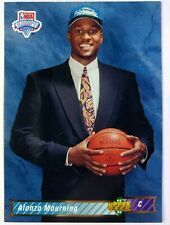 1992 Upper Deck NBA Draft Alonzo Mourning Rookie RC #2, Charlotte Hornets